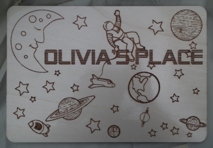 Space Child's Place Mat