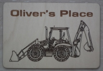 Digger Child's Place Mat